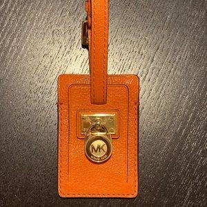 Michael Kors Orange Luggage ID Tag NEW